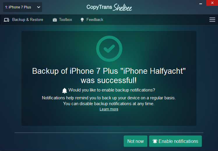 How to back up and restore iPhone without iTunes