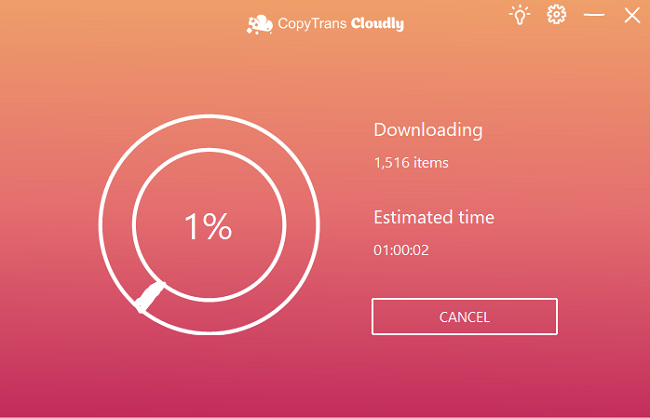 downloading photos from iCLoud with CopyTrans Cloudly
