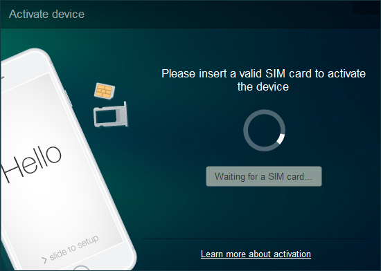 Insert a sim card to activate your iPhone