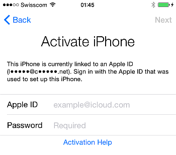 iphone activation with apple id on ios 8