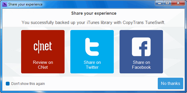 share your copytrans tuneswift experience