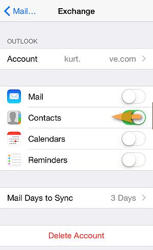 remove exchange iphone