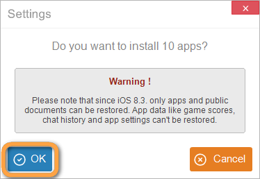 install apps prompt in copytrans apps