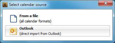 select calendar source popup in copytrans
