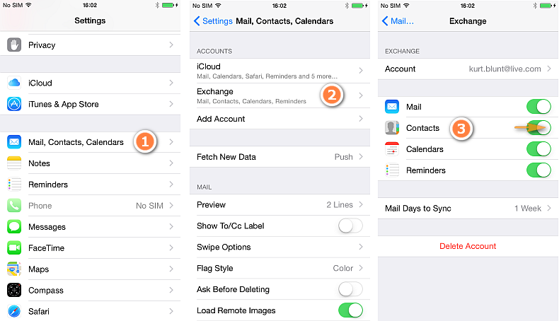how to backup iphone contacts to icloud how to copy exchange contacts to icloud 9451