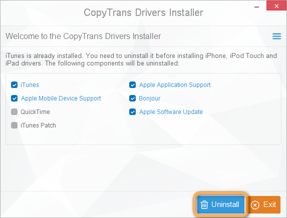How to completely uninstall iTunes and related Apple software?