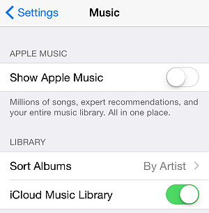 music settings on iphone ios 8