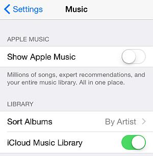 music settings on iphone ios 8