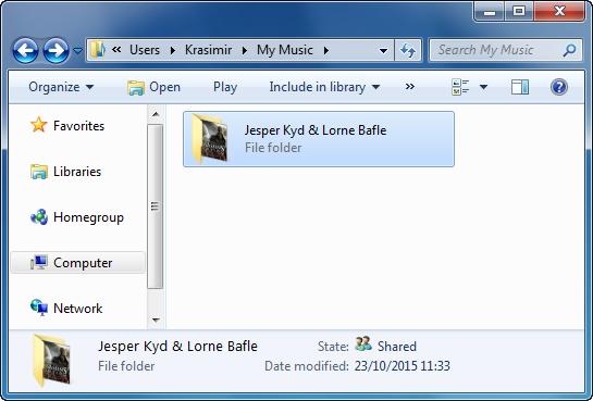 ripped cd songs folder on windows