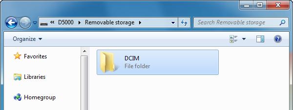 Nikon d5500 DCIM folder