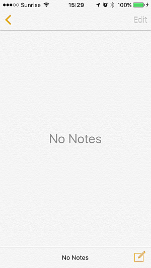 iphone notes in ios 9