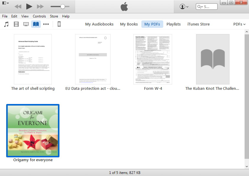 itunes with books