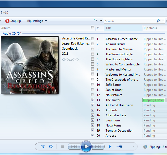 cd rip in progress