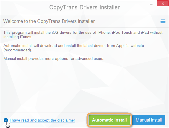 install iphone drivers without itunes