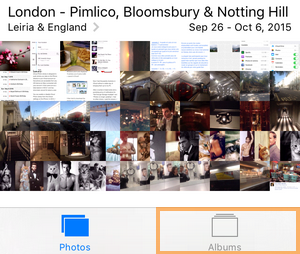 albums view in iphone photos app