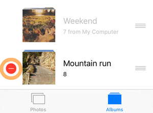 delete a photo album from iphone
