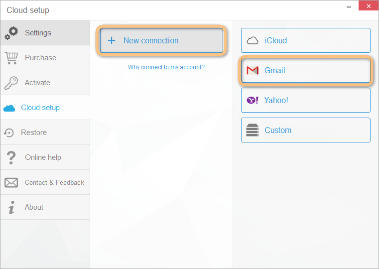 connect a google account with copytrans contacts