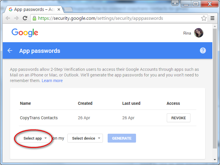 Add CopyTrans to Google trusted apps