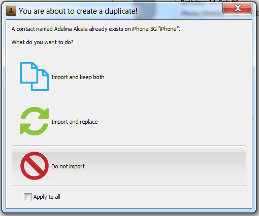 you are about to create a duplicate