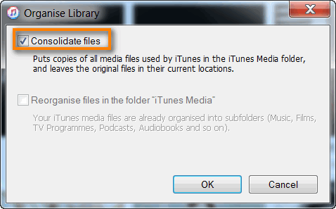 consolidating itunes music