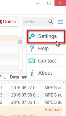 Change settings in CTM
