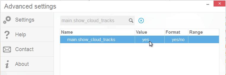 Show cloud music in CTM