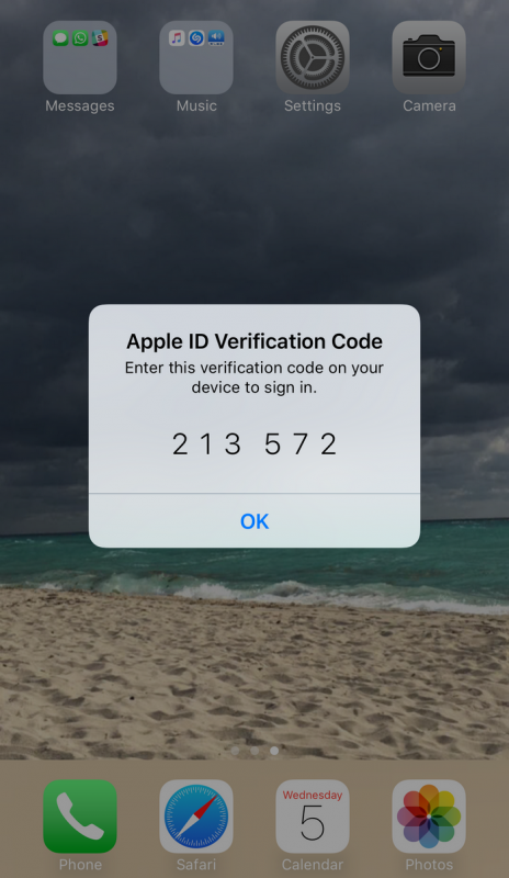 Apple ID verification code