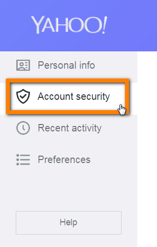 "Navigate to the ""Account Security"""