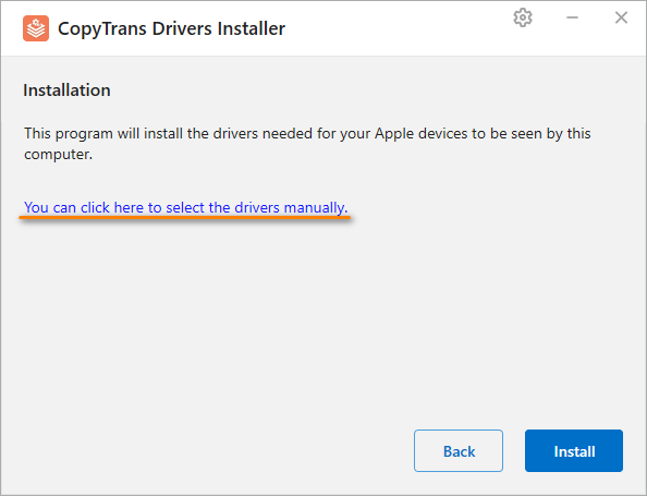 ctdi install drivers manually