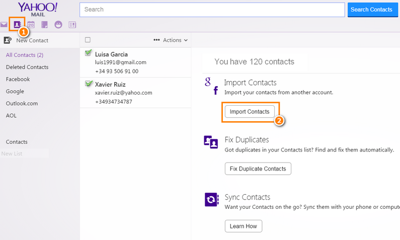 How to export iPhone contacts to Yahoo?