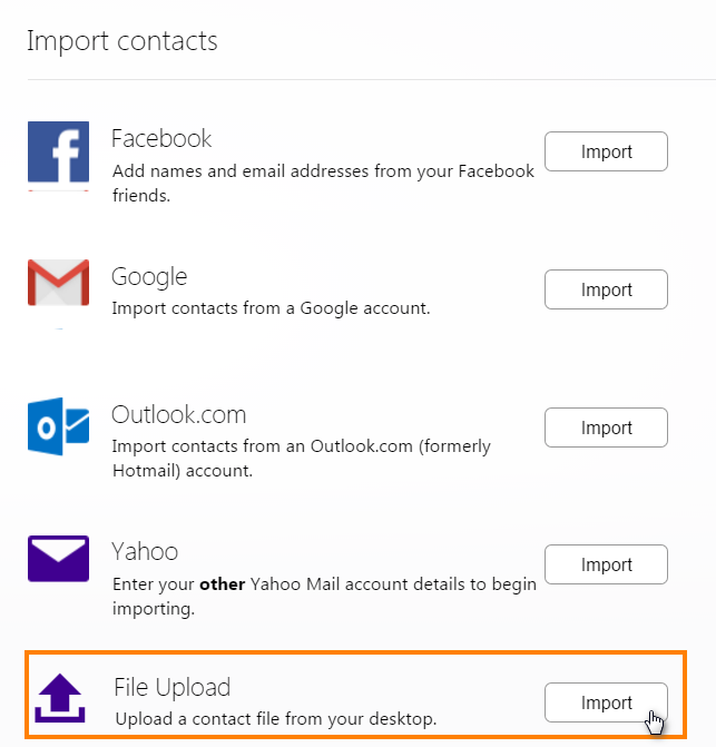 Import your iPhone contacts to Yahoo