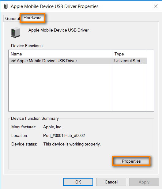 My iPhone, iPod touch, iPad is not recognized or detected as a camera by Windows 10