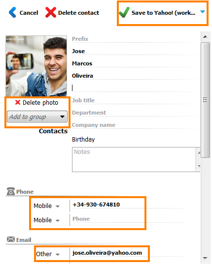 how to send iphone contacts to gmail