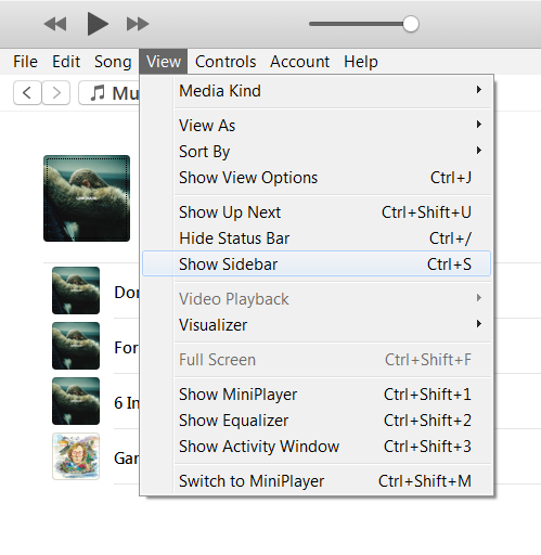 Click View in the upper menu and choose show sidebar