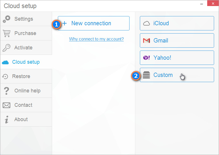 Connect Synology to CopyTrans Contacts