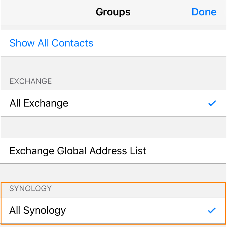 Set up your iOS device for use with Synology CardDAV