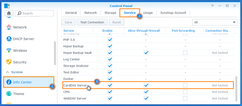 How to set up the CardDAV Server on your Synology NAS