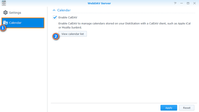 Enable CalDav