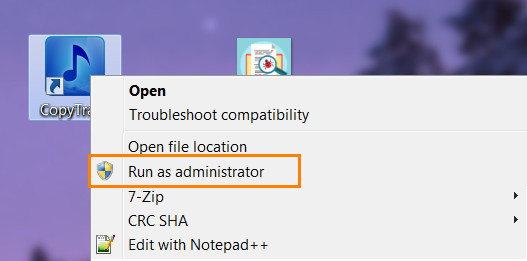 Right-click and run as administrator