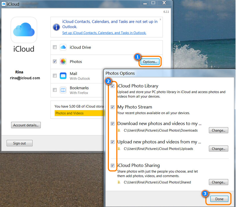 icloud for windows download photos