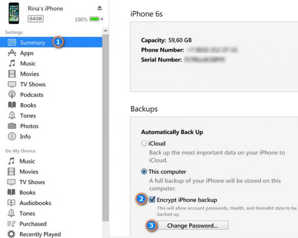 How to encrypt your iOS backup in iTunes