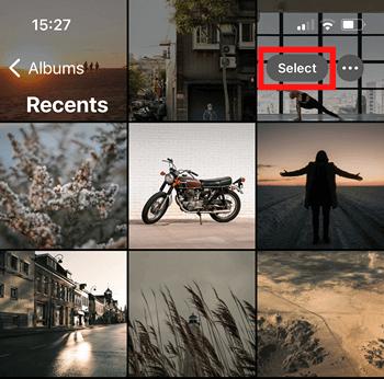 Select iPhone photos