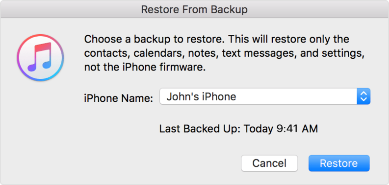 Recover photos from iTunes backup