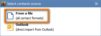 Import contacts from a file