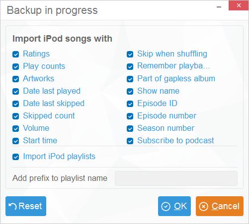 iTunes export customization in CopyTrans