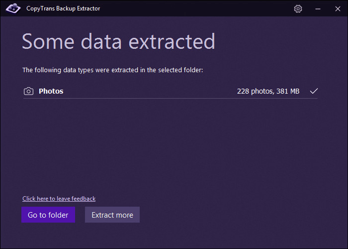 Data extraction finished