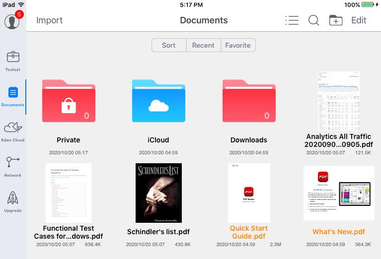PDF on iPad