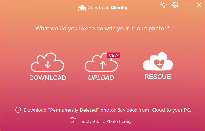 Rescue deleted iCloud photos