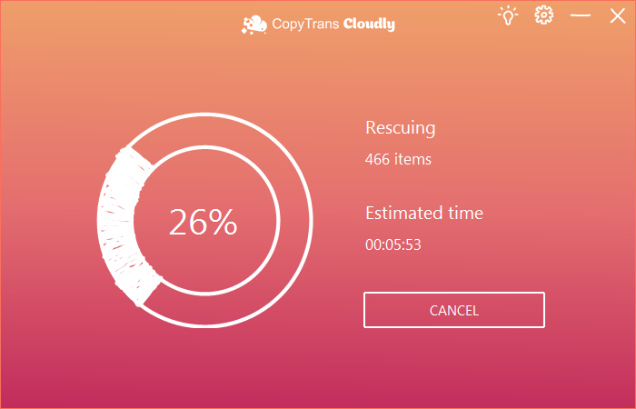 Recover deleted photos from iCloud with Cloudly