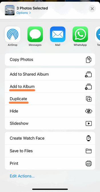 Copy photos from Photo Library to Camera Roll